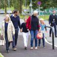 La princesse Ingrid Alexandra de Norvège a fait sa rentrée scolaire à l'Oslo International School le 19 août 2014. La fillette de 10 ans était accompagnée par son père le prince Haakon, sa mère la princesse Mette-Marit (qui fêtait ses 41 ans le même jour), sa grand-mère Marit Tjessem et son frère le prince Sverre Magnus, qui rentrait le même jour à l'Oslo Montessori School, également un établissement privé.