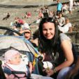 Malèna Alagna lors de ses premières Chorégies d'Orange, avec sa maman Aleksandra Kurzak et son grand-père paternel. Roberto Alagna et sa compagne Aleksandra Kurzak sont depuis le 29 janvier 2014 les parents d'une petite Malèna. La fillette les a déjà accompagnés aux Chorégies d'Orange et au palais princier de Monaco.