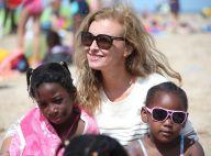 Valérie Trierweiler : Radieuse pour une journée de détente à la plage
