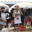 Wiz Khalifa à Saint-Tropez, le 12 juillet 2014.