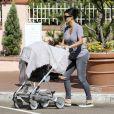 Kim Kardashian quitte son hôtel avec sa fille North et sa mère Kris jenner après avoir passé du temps à San Diego. Le 23 août 2014.