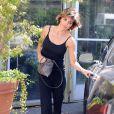 Exclusif - Lisa Rinna sort de chez elle à West Hollywood, le 8 août 2014.