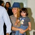 """"""" Shakira et son fils Milan arrivent à Rio le 9 juillet 2014. """""""