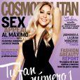 """""""Shakira en couverture de l'édition mexicaine du magazine """"Cosmopolitan"""" en août 2014. Elle confirme être enceinte de son 2e enfant."""""""