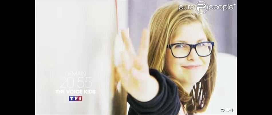 La jeune Sarah, dans The Voice Kids (épisode 2), le samedi 30 août 2014.