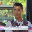 Cristiano Ronaldo évoque Irina Shayk et son fils sur la chaîne portugaise TVI - août 2014.