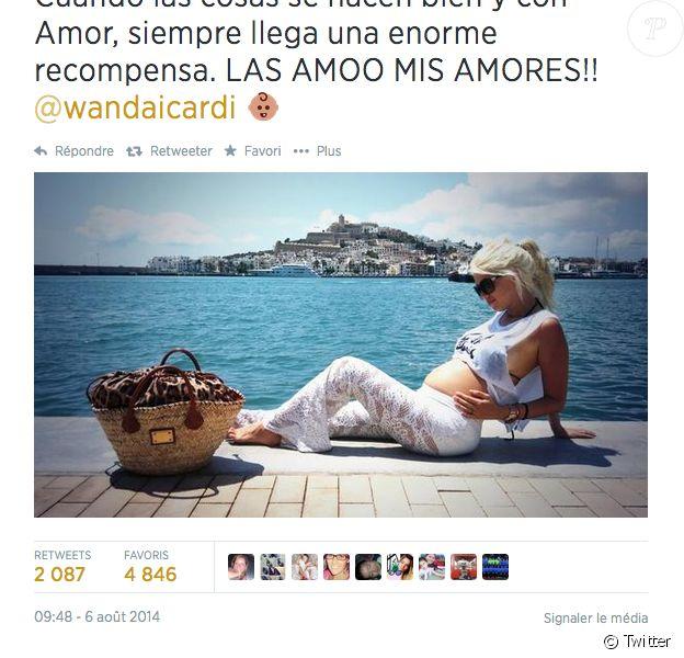 Wanda Nara, enceinte de son premier enfant avec Mauro Icardi - août 2014