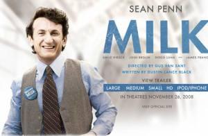 VIDEO : Découvrez Sean Penn dans la peau de l'homosexuel Harvey Milk... Un Oscar en puissance ?