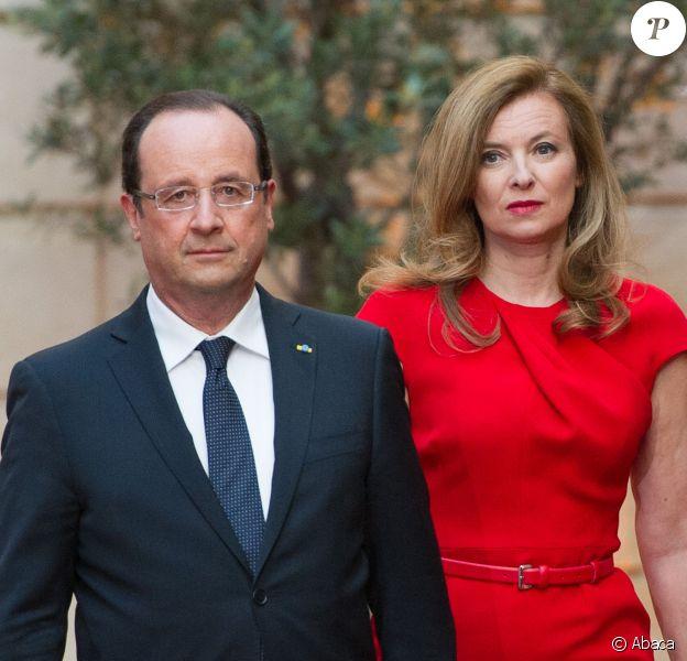 François Hollande et Valérie Trierweiler à l'Elysée le 7 mai 2013.