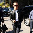 Nick Jonas arrive au Lincoln Center pour assister au défilé Richard Chai printemps-été 2015. New York, le 4 septembre 2014.