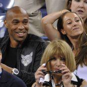 Thierry Henry : Spectateur amoureux au côté de sa belle Andrea à l'US Open