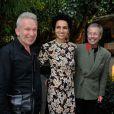 Farida Khelfa, Jean-Paul Goude et Jean Paul Gaultier à la présentation du documentaire realisé par Farida Khelfa sur Christian Louboutin au cinéma La Pagode à Paris, le 9 septembre 2014. Le film sera diffusé sur Arte le 27 septembre à 22h30.