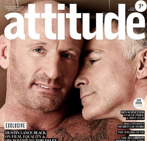 Gareth Thomas et son compagnon en couverture de Attitude octobre 2014