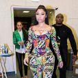 Nicki Minaj rejoint Beyoncé sur la scène du Stade de France, à Saint-Denis, lors du concert de la chanteuse et son mari Jay Z. Le 12 septembre 2014.