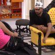Vincent et Nathalie dans la quotidienne de Secret Story 8, le lundi 15 septembre 2014 sur TF1