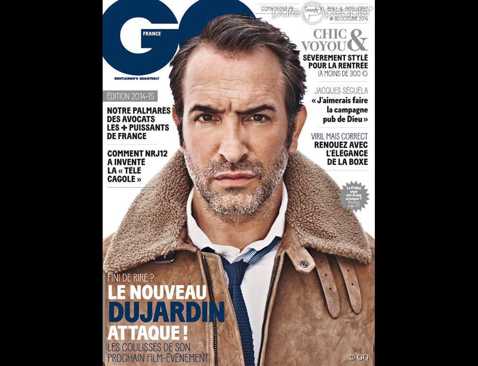 Jean dujardin en couverture de gq num ro d 39 octobre 2014 for Sarl dujardin 76