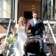 Sandrine Corman à son romantique mariage avec Michel. Septembre 2014.
