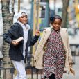 Mercy James et David Banda dans les rues de New York, le 23 mars 2014