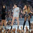 Nicki Minaj, Jessie J et Ariana Grande sur la scène des MTV Videos Music Awards à Inglewood, le 24 août 2014.