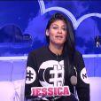 Jessica dans la quotidienne de Secret Story 8, sur TF1, le lundi 22 septembre 2014