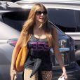Exclusif - Sofia Vergara se rend à son cours de gym à Brentwood, le 11 septembre 2014.