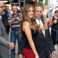 "Sofia Vergara à la sortie de l'émission ""Good Morning America"" à New York. Le 22 septembre 2014"