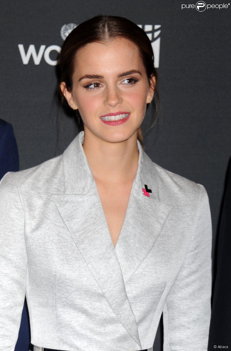 Emma Watson à New York le 20 septembre 2014.