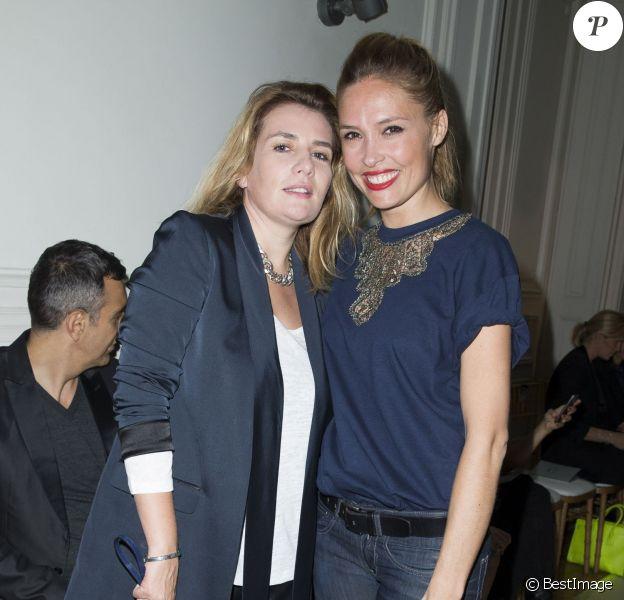 Marie-Amélie Seigner et Lilou Fogli assistent au défilé prêt-à-porter Alexis Mabille printemps-été 2015 à l'hôtel Salomon de Rothschild. Paris, le 24 septembre 2014.