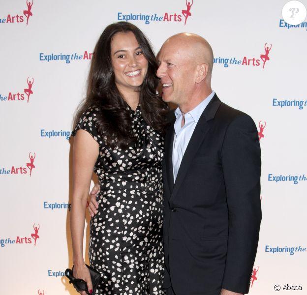 Bruce Willis et Emma Heming lors du 8e Exploring the Arts Gala à New York le 29 septembre 2014.