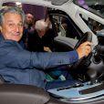 Christian Clavier lors de la soirée d'inauguration des nouvelles Renault Espace et Clio lors du salon de l'automobile au Parc des Expositions de la porte de Versailles à Paris, le 2 octobre 2014.