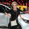 Françoise Laborde lors de la soirée d'inauguration des nouvelles Renault Espace et Clio lors du salon de l'automobile au Parc des Expositions de la porte de Versailles à Paris, le 2 octobre 2014.