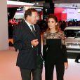 Clotilde Courau lors de la soirée d'inauguration des nouvelles Renault Espace et Clio lors du salon de l'automobile au Parc des Expositions de la porte de Versailles à Paris, le 2 octobre 2014.