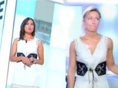 PHOTOS : Anne-Sophie Lapix s'est fait piquer sa robe...