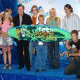Le casting de Sept à la maison, à la cérémonie des Teen Choice Awards, le 2 août 2003 à Los Angeles.