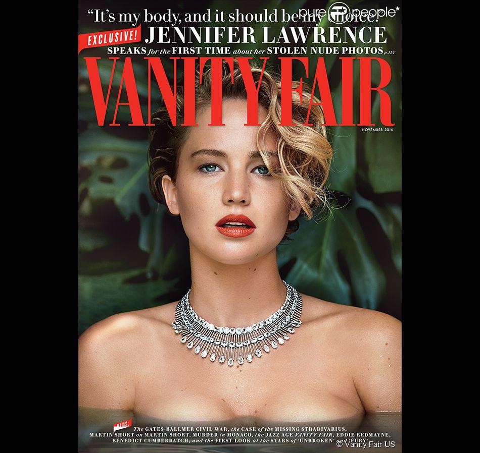 Couverture du magazine Vanity Fair où Jennifer Lawrence brise le silence sur le scandale des photos de nu.