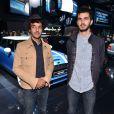Félix Hemmen et Bérald Crambes des BB Brunes à la soirée Mini au Mondial de l'automobile le 2 octobre à Paris
