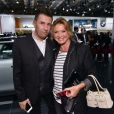 Laurent Guyot et Marie-Ange Horlaville à la soirée Mini au Mondial de l'automobile le 2 octobre à Paris