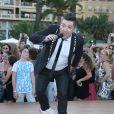 """Chris Marques - L'équipe de TF1 de """"Danse avec les Stars"""" donnent un show lors du 54e Festival de Télévision de Monte-Carlo, le 8 juin 2014."""