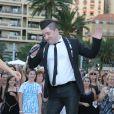 """Le danseur Chris Marques - L'équipe de TF1 de """"Danse avec les Stars"""" donnent un show lors du 54e Festival de Télévision de Monte-Carlo, le 8 juin 2014."""