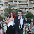 """Jaclyn Spencer, Chris Marques - L'équipe de TF1 de """"Danse avec les Stars"""" donnent un show lors du 54e Festival de Télévision de Monte-Carlo, le 8 juin 2014."""
