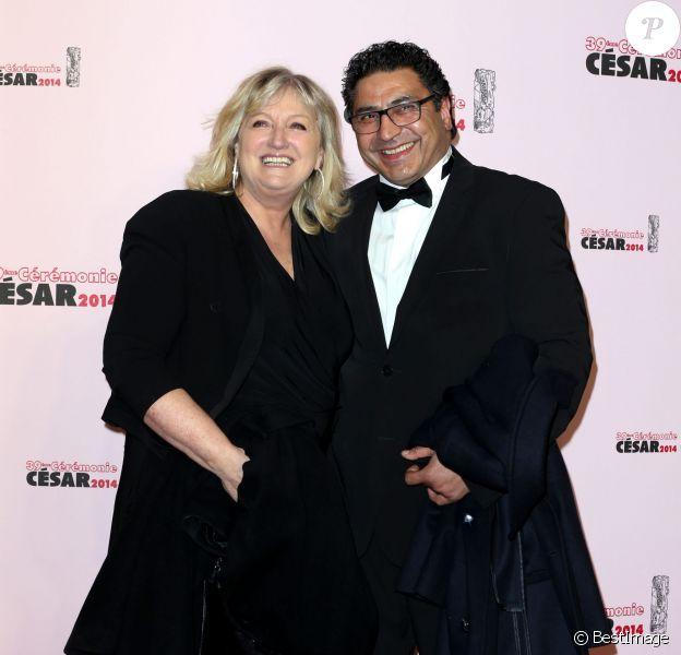 Charlotte de Turckheim et son mari Zaman Hachemi - 39e cérémonie des Cesar au théâtre du Châtelet à Paris le 28 février 2014