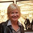 """Catherine Ceylac - Vernissage de l'exposition """"Tout L'Art Du Chat"""" de Philippe Geluck à la galerie Huberty-Breyne à Paris, le 14 octobre 2014."""