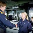 Le roi Willem-Alexander des Pays-Bas en visite dans un sous-marin le 8 octobre 2014 dans le cadre des exercices de l'Arc nordique en mer Baltique.