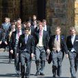 Les princes William et Harry  au mariage de Thomas van Straubenzee et de Lady Melissa Percy à Northumbria en Angleterre, le 21 juin 2013