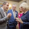 Camilla Parker Bowles à Clarence House le 16 octobre 2014 lors d'une réception pour l'International Credit Union Day