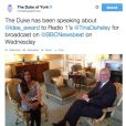 Tina Daheley, de BBC Radio 1, a rencontré le prince Andrew, duc d'York, pour l'émission  Newsbeat  afin de parler de son projet Idea Award