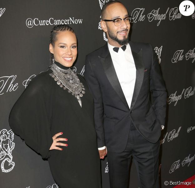 "Alicia Keys, Swiss Beatz à la soirée ""Angel Ball 2014"" à New York, le 20 octobre 2014."
