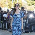 """Liv Tyler (enceinte) lors du défilé de mode """"Miu Miu"""", collection prêt-à-porter printemps-été 2015, au Palais de Tokyo à Paris. Le 1 octobre 2014."""