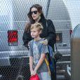 Liv Tyler, enceinte, emmène son fils Milo à l'école à New York, le 17 octobre 2014.