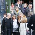 Obsèques de la comédienne Marie Dubois en l'église de Ville-d'Avray le 22 octobre 2014.